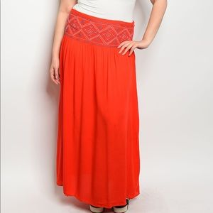 Dresses & Skirts - Red Maxi Skirt | MAKE A OFFER